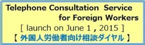 Telephone Consultation Service for Foreign Workers